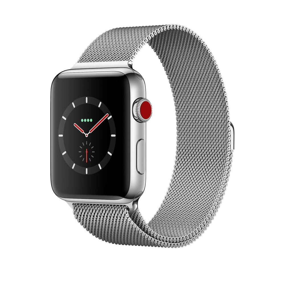 Часы Apple Watch Series 3 Cellular 38mm Stainless Steel Case with Milanese Loop