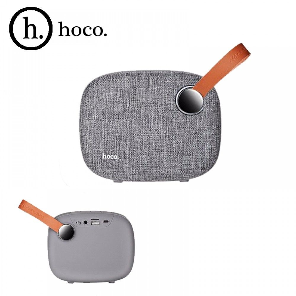 Портативная bluetooth колонка HOCO BS8 Plain textile desktop