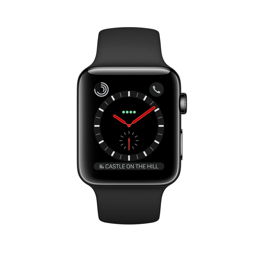 Часы Apple Watch Series 3 Cellular 38mm Stainless Steel Case with Sport Band